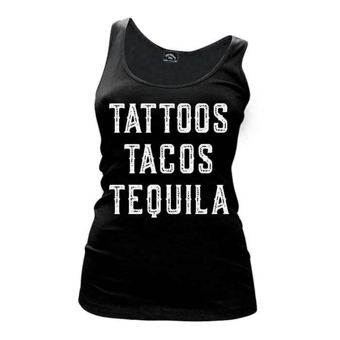 Women's Tattoos Tacos Tequila - Tank Top