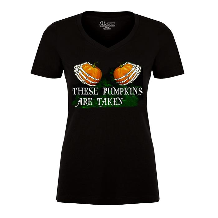 Women's These Pumpkins Are Taken (Halloween) - Tshirt