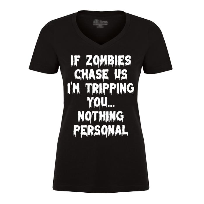 Women's If Zomies Chase Us (Halloween) - Tshirt