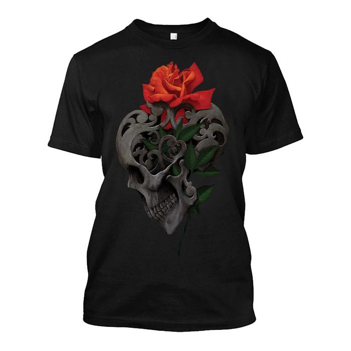 Men's Skull & Roses - Tshirt