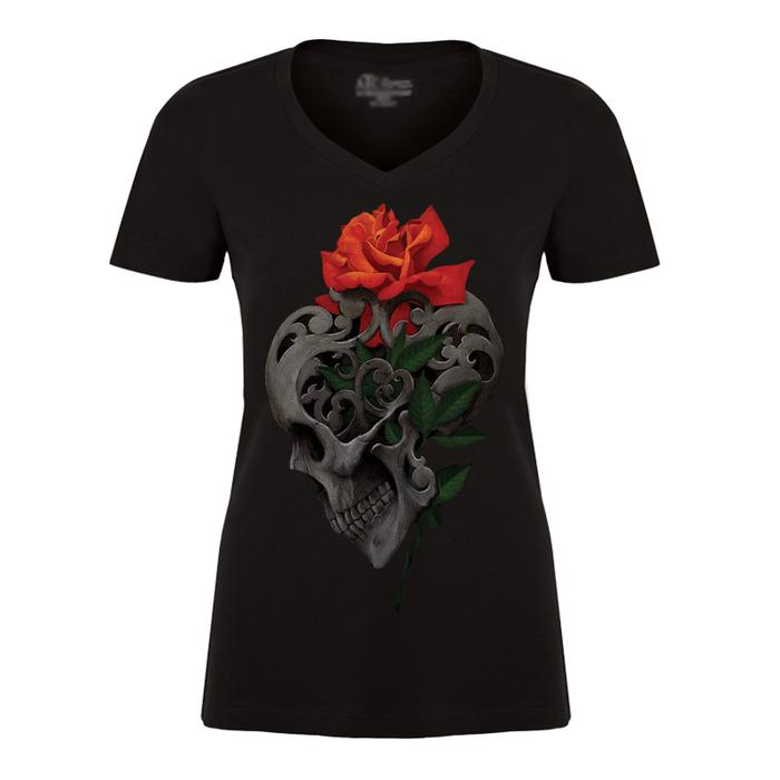 Women's Skull & Roses - Tshirt