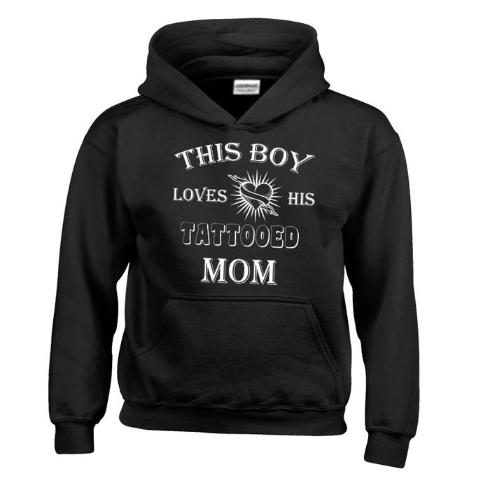 Kids This Boy Loves His Tattooed Mom - Hoodie