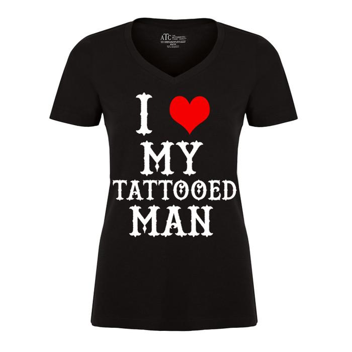 Women'S I Heart My Tattooed Man - Tshirt