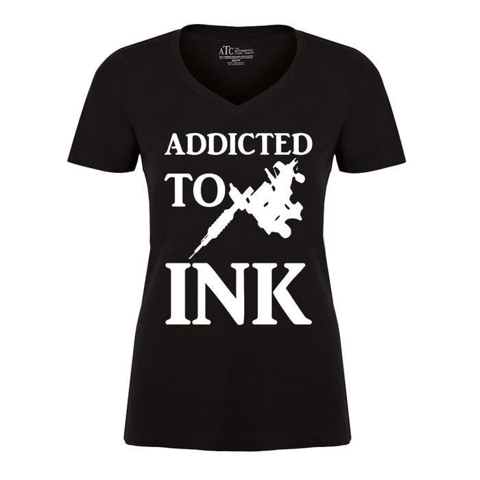 Women's Addicted To Ink - Tshirt