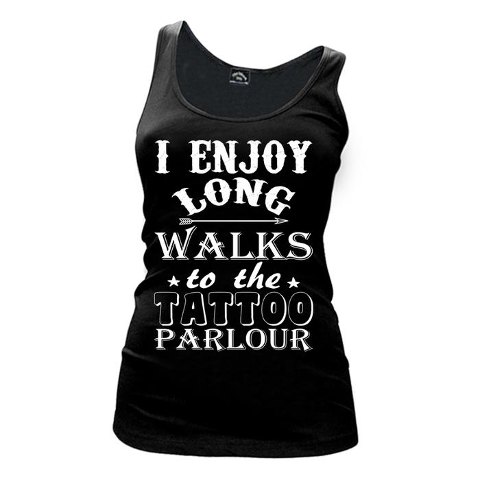 Women'S I Enjoy Long Walks To The Tattoo Parlour - Tank Top