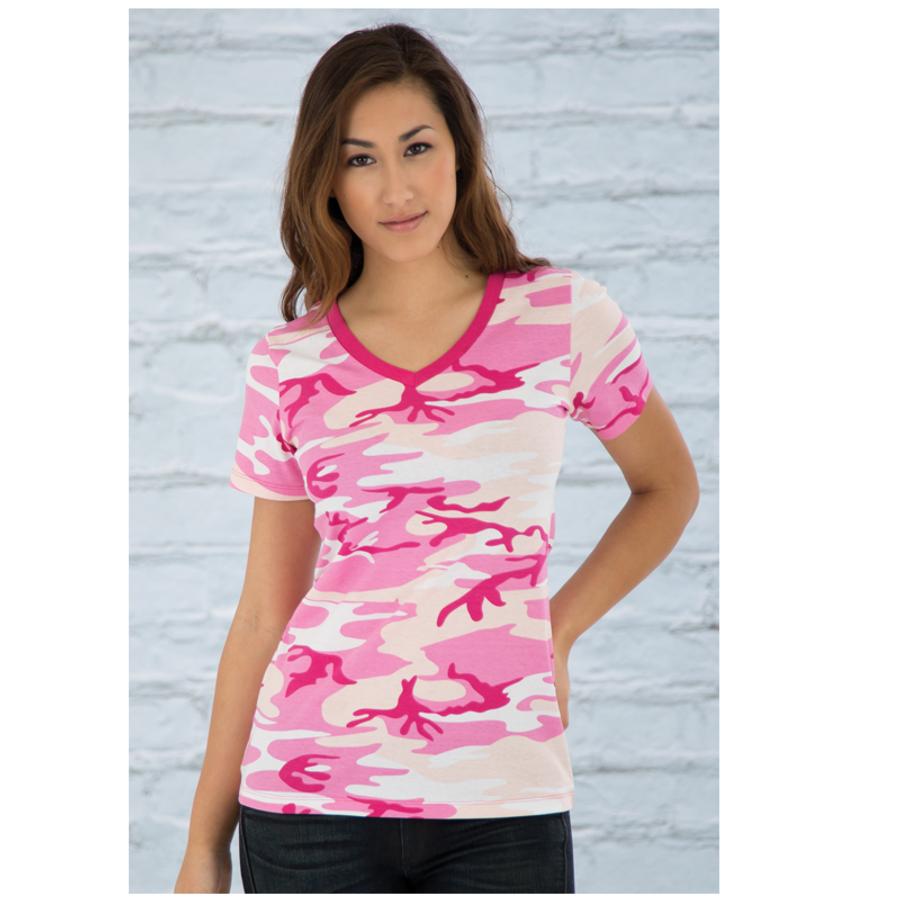 Women'S Pink Camo - Tshirt