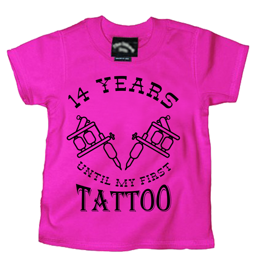 Kids 14 Years Until My First Tattoo - Tshirt