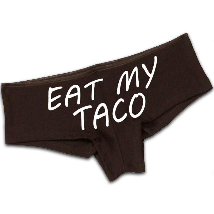 Women'S Eat My Taco - Booty Shorts