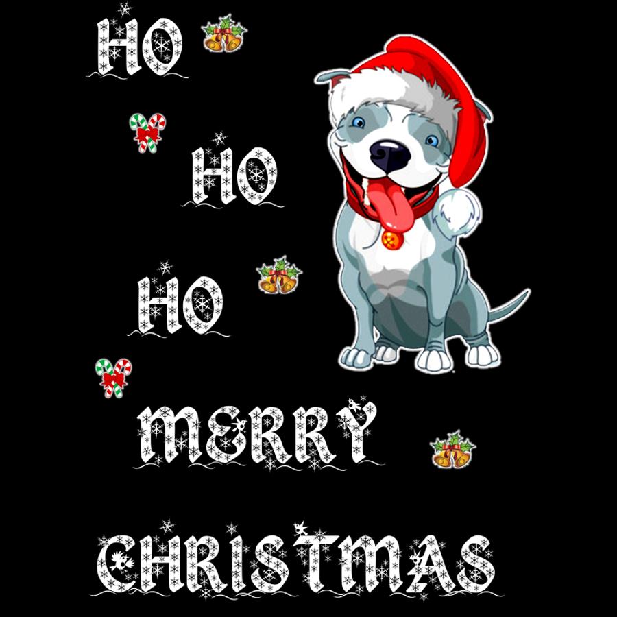 Men'S Ho Ho Ho Merry Christmas (Dog) - Tshirt