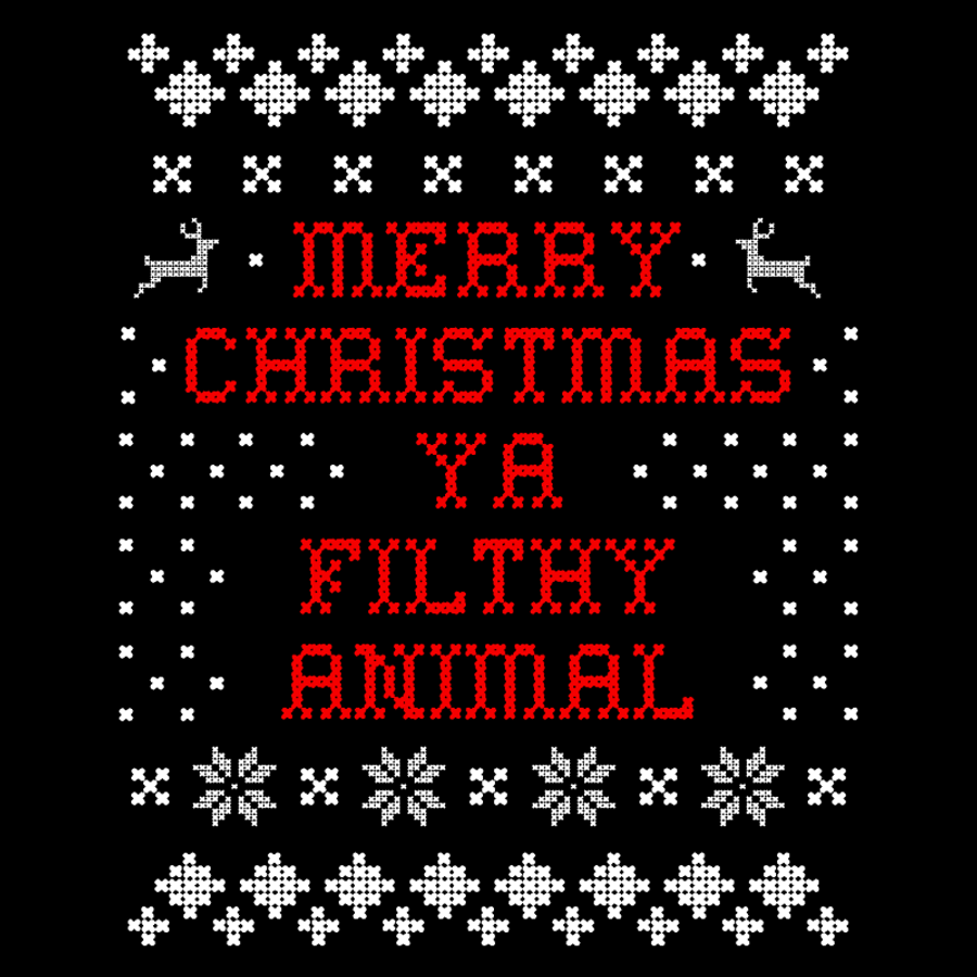 Men'S Merry Christmas Ya Filthy Animal - Tshirt