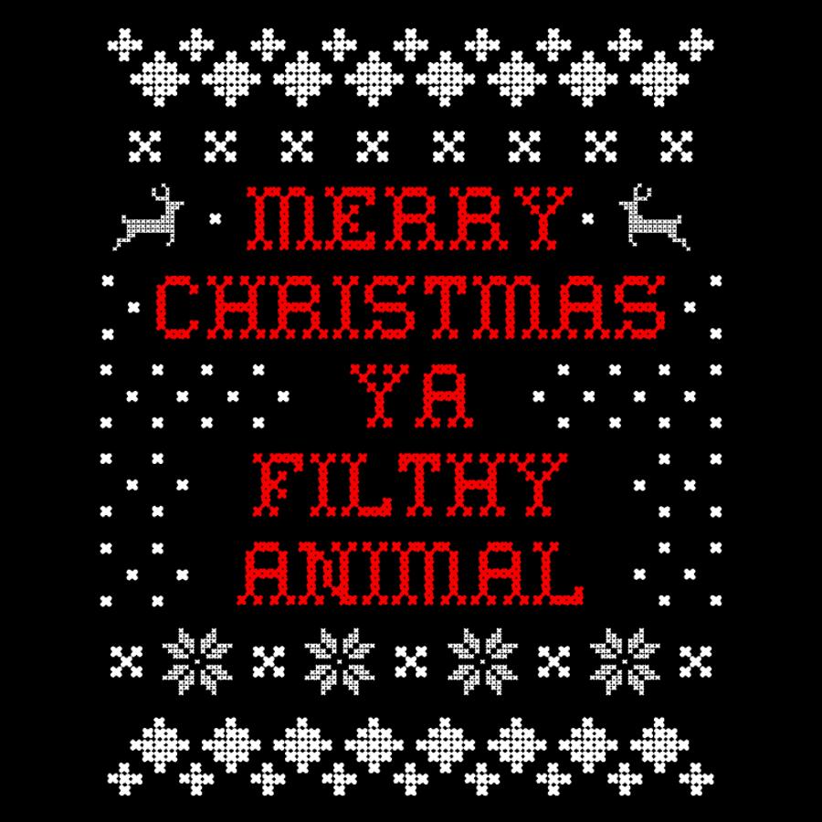 Women'S Merry Christmas Ya Filthy Animal - Tshirt