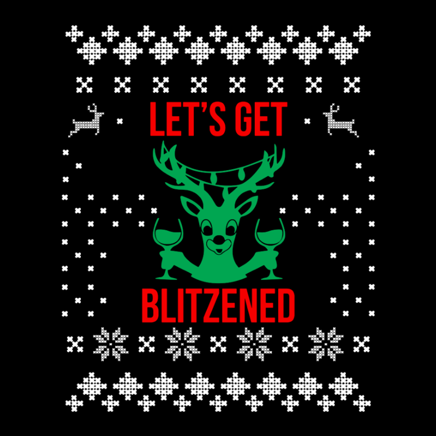 Men'S Let'S Get Blitzened - Tshirt