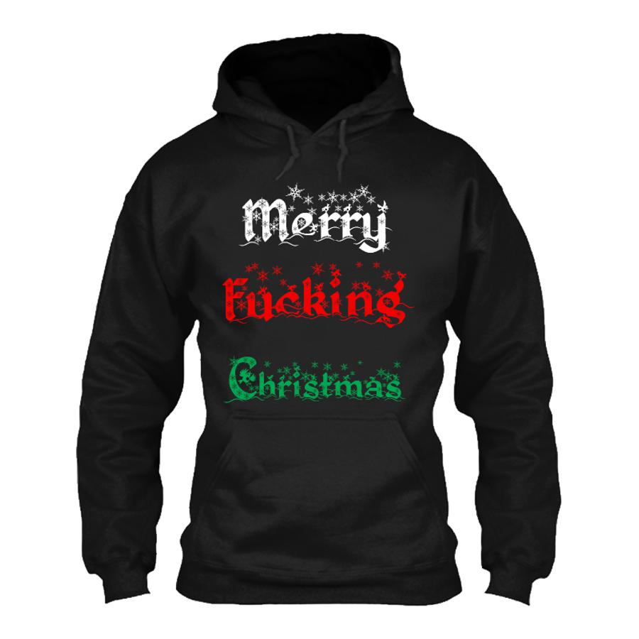 Men'S Merry Fucking Christmas (V1)- Hoodie