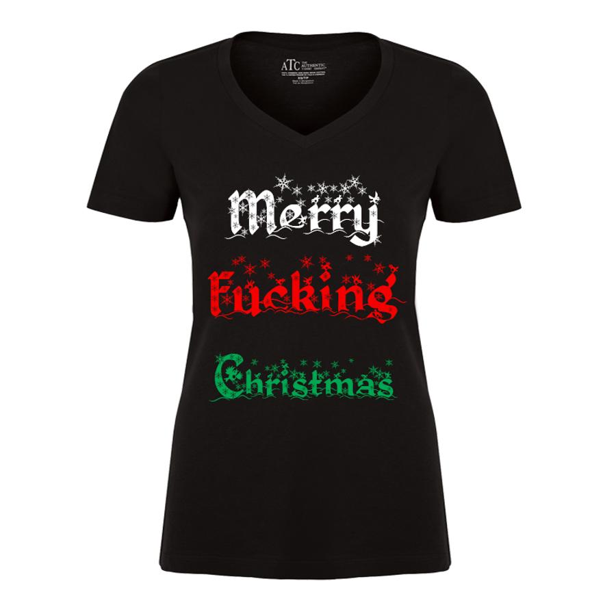 Women'S Merry Fucking Christmas (V1) - Tshirt
