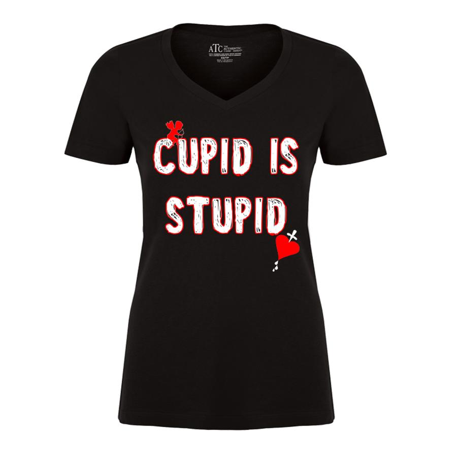 Women'S Cupid Is  Stupid - Tshirt