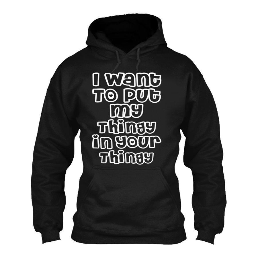 Men'S I Want To Put My Thingy In Your Thingy - Hoodie