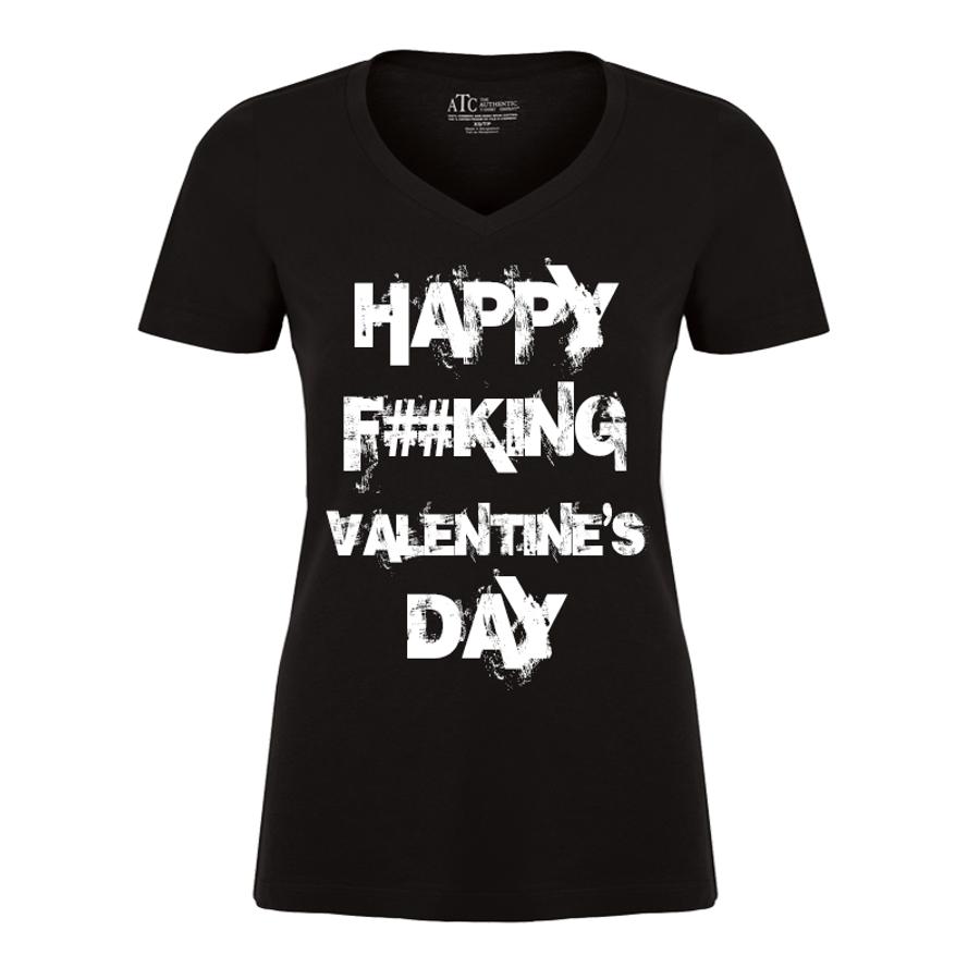 Women'S Happy Fucking Valentine's Day (Censored) - Tshirt