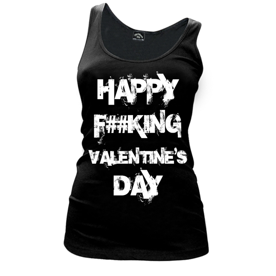 Women'S Happy Fucking Valentine's Day (Censored) - Tank Top