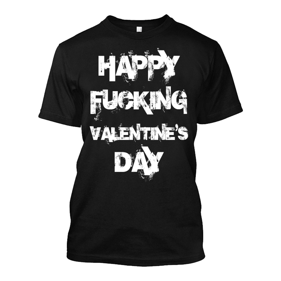 Men'S Happy Fucking Valentine's Day - Tshirt