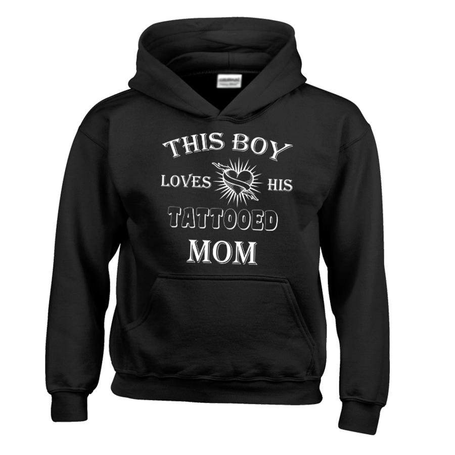 Kids This Boy Loves His Tattooed Mom - Hoodie