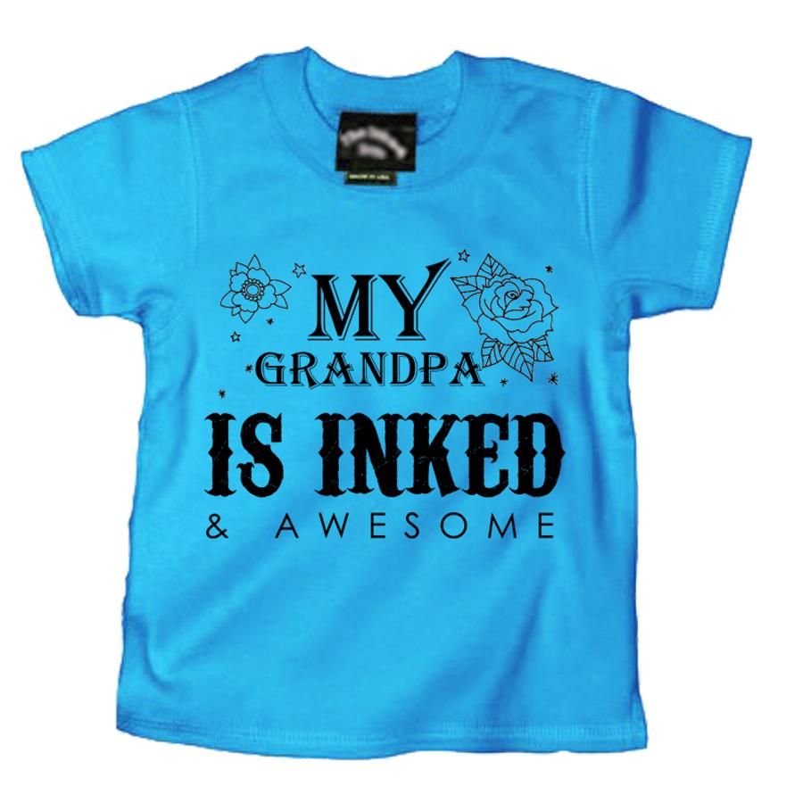 Kids My Grandpa Is Inked & Awesome - Tshirt
