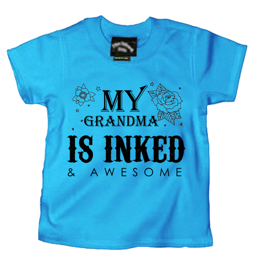 Kids My Grandma Is Inked & Awesome - Tshirt