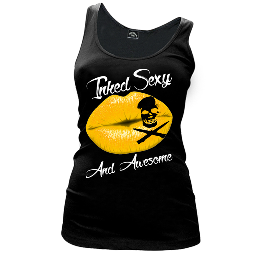 Women'S Inked Sexy And Awesome - Tank Top