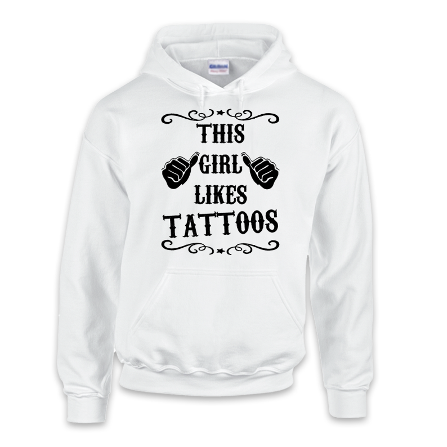 Women'S This Girl Likes Tattoos - Hoodie