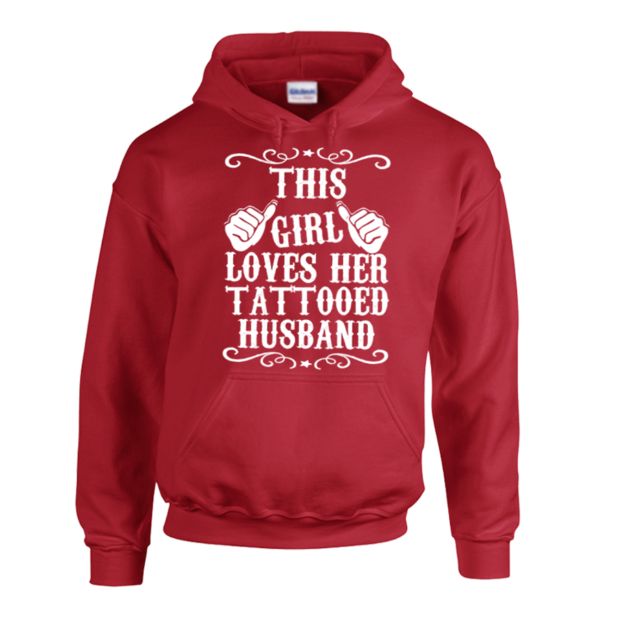 Women'S This Girl Loves Her Tattooed Husband - Hoodie