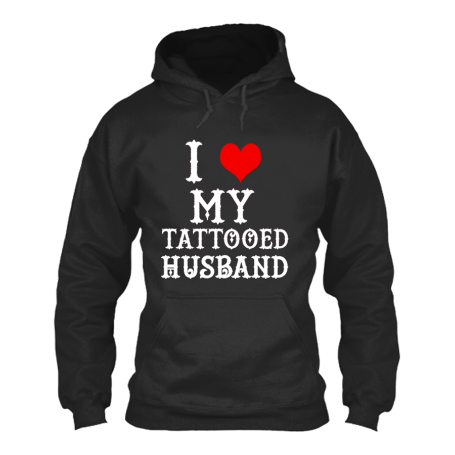 Women'S I Heart My Tattooed Husband - Hoodie