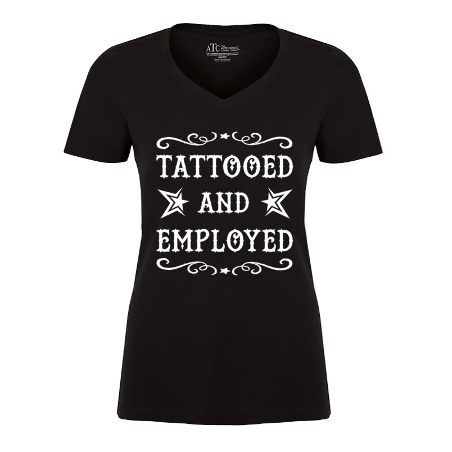 Women'S Tattooed And Employed - Tshirt