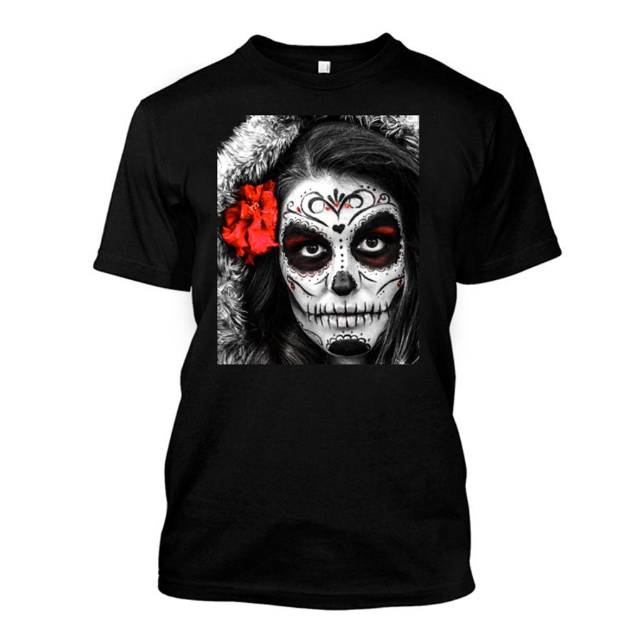Men'Ssugar Skull Face- Tshirt