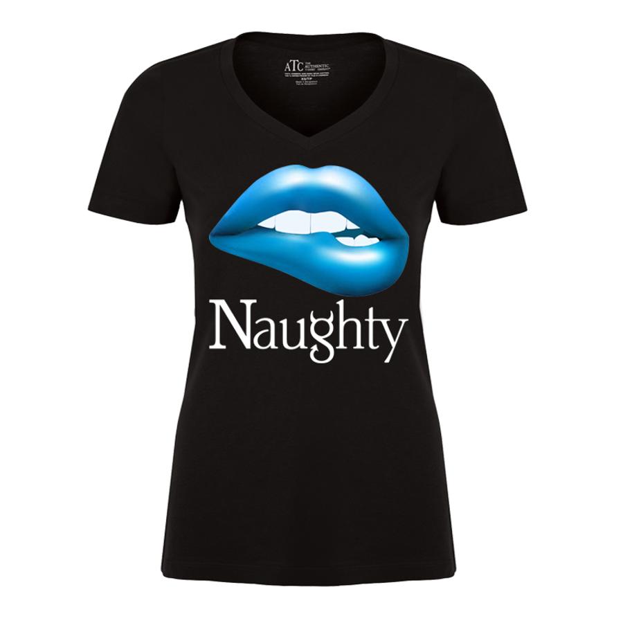 Women'S Naughty Lips - Tshirt