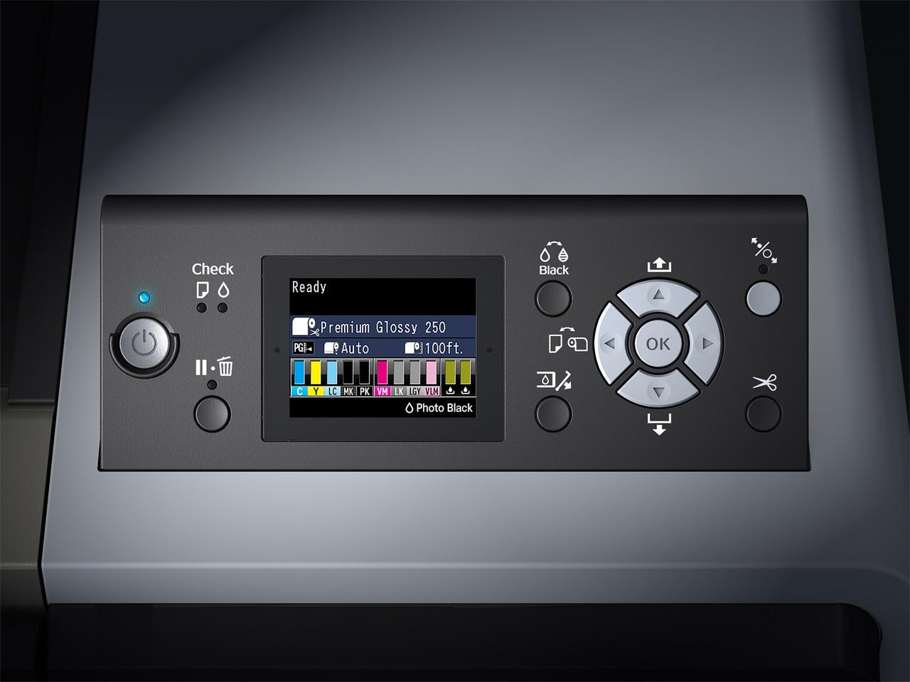 Epson SureColor P8000SE Control Panel