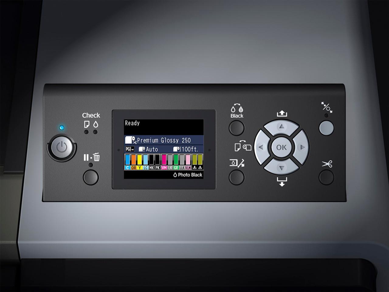 Epson SureColor P7000 Control Panel