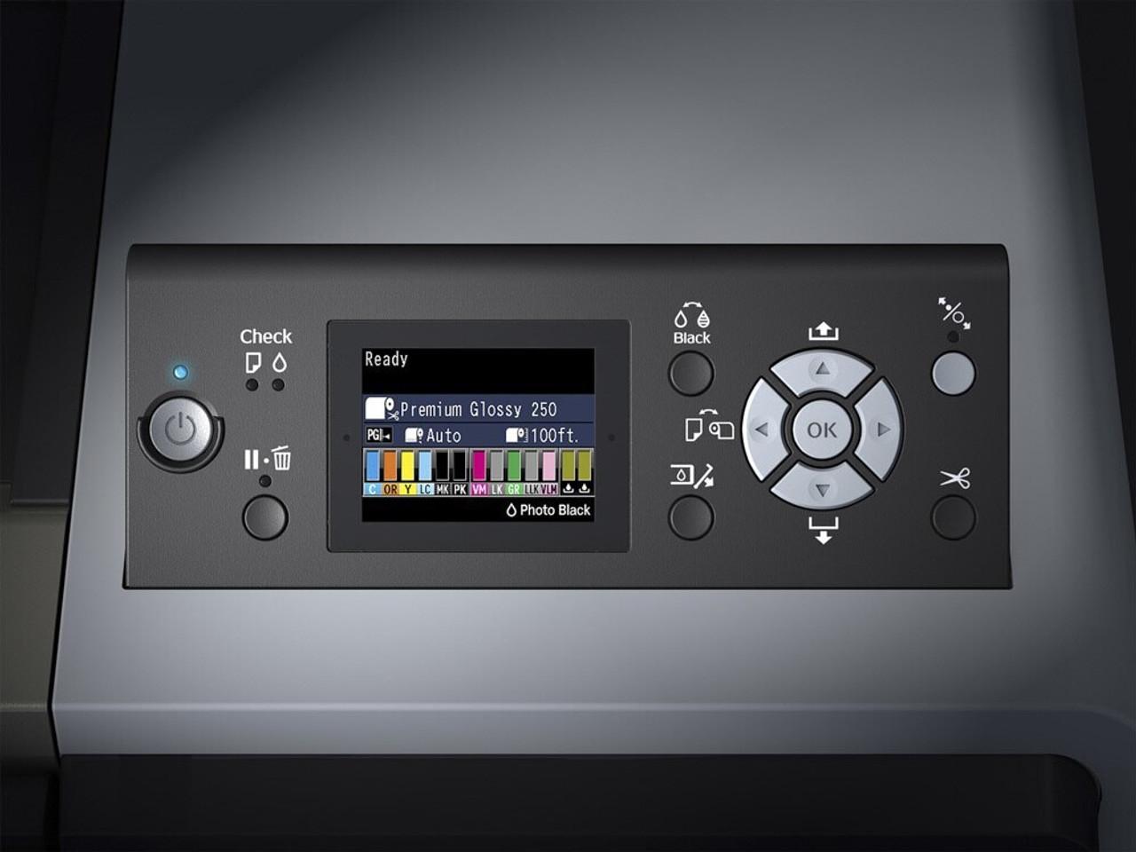 Epson SureColor P9000SE Control Panel