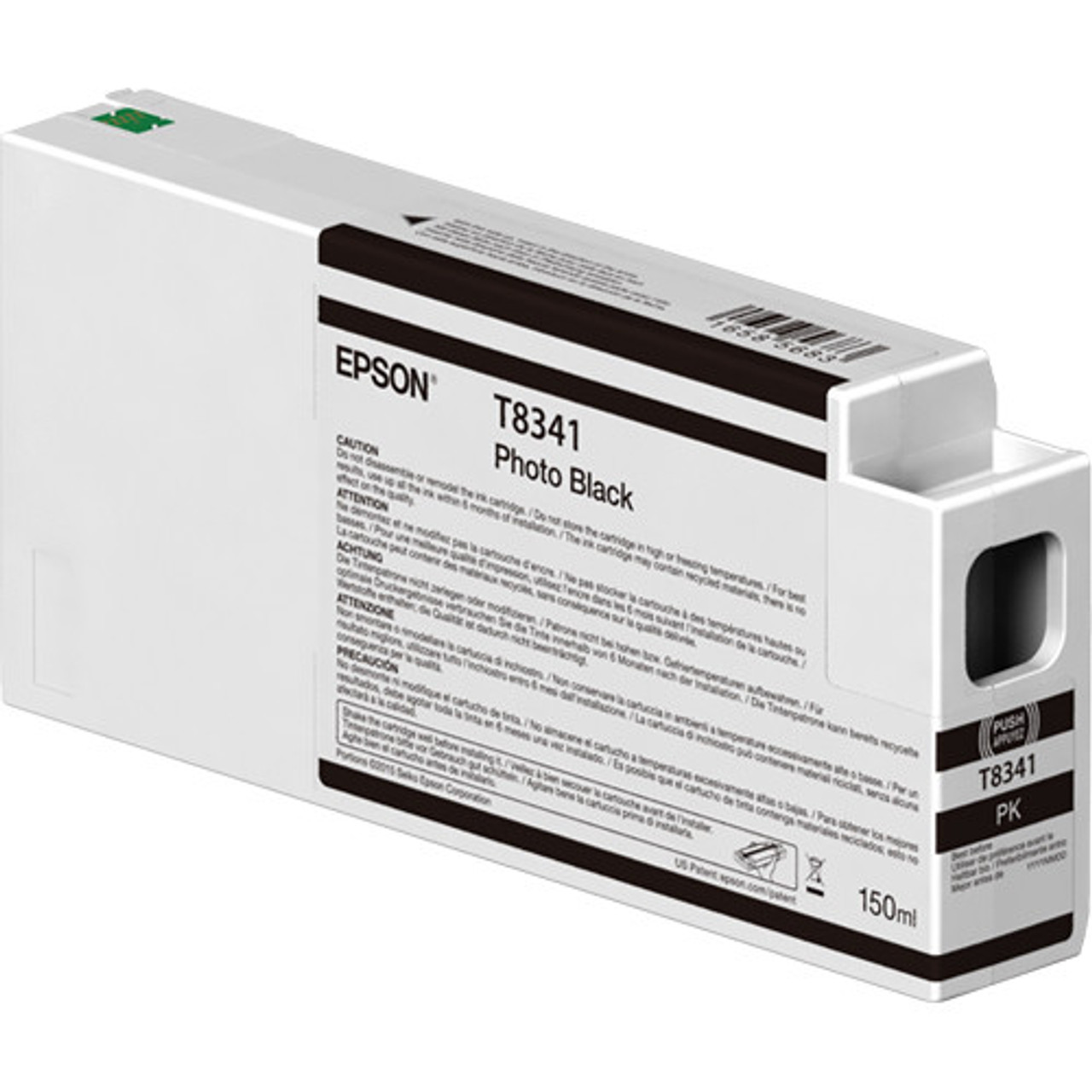 Epson T834100 UltraChrome HD Photo Black Ink Cartridge (150ml)