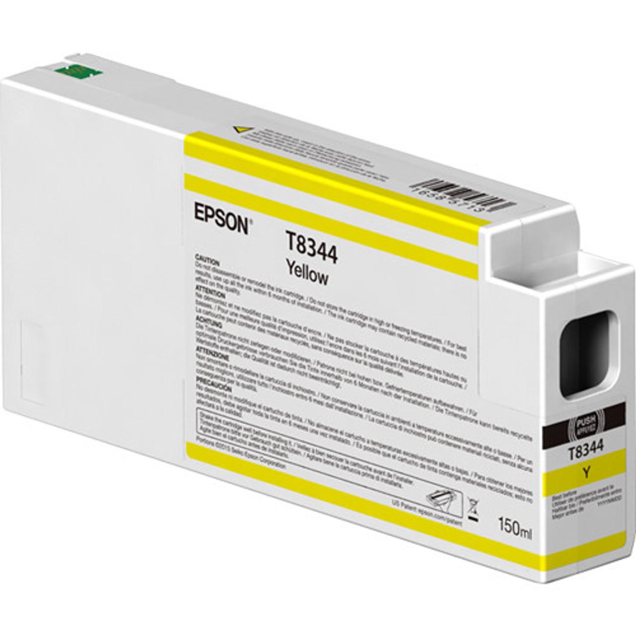 Epson T834400 UltraChrome HD Yellow Ink Cartridge (150ml)