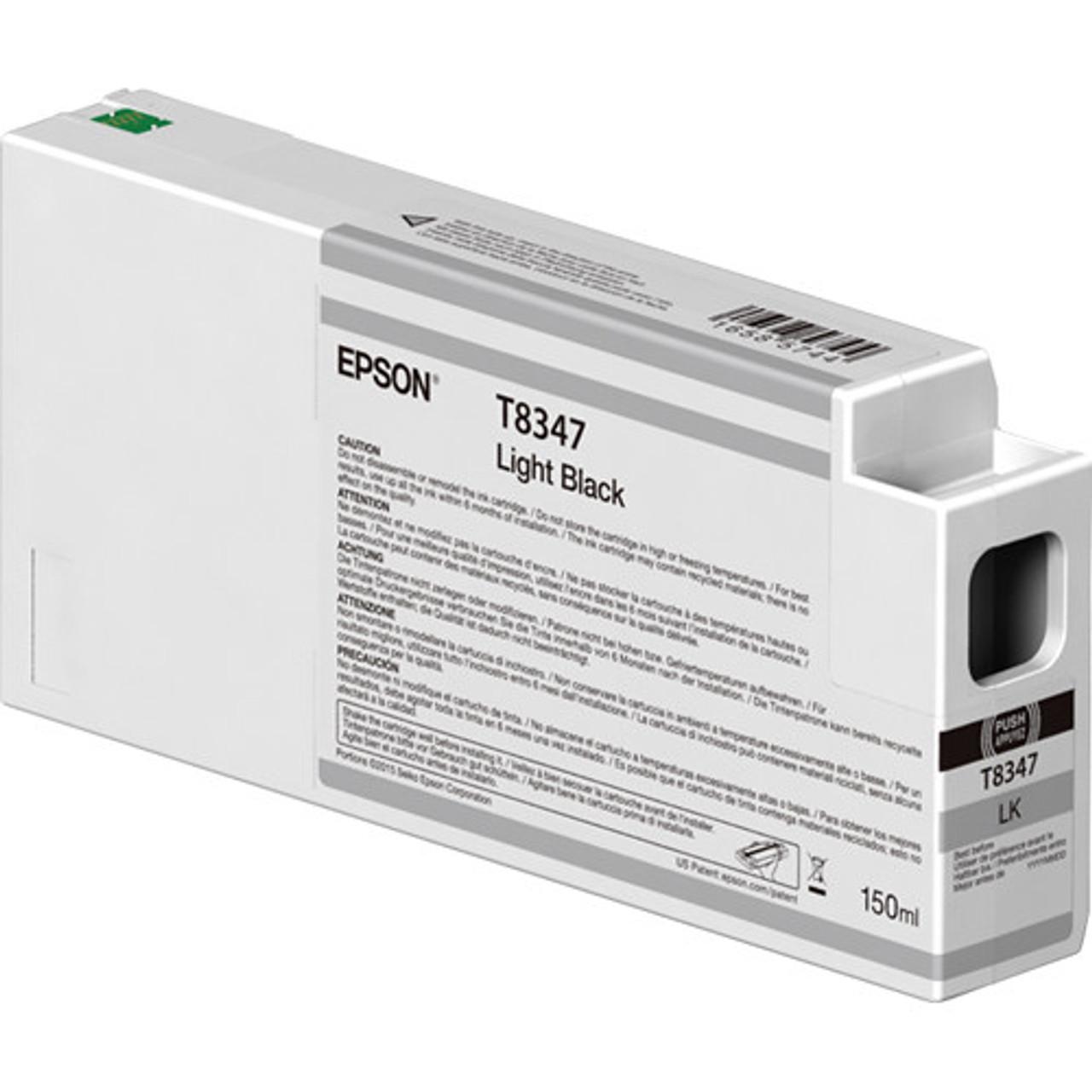Epson T834700 Light Black Ink Cartridge, 150 mL