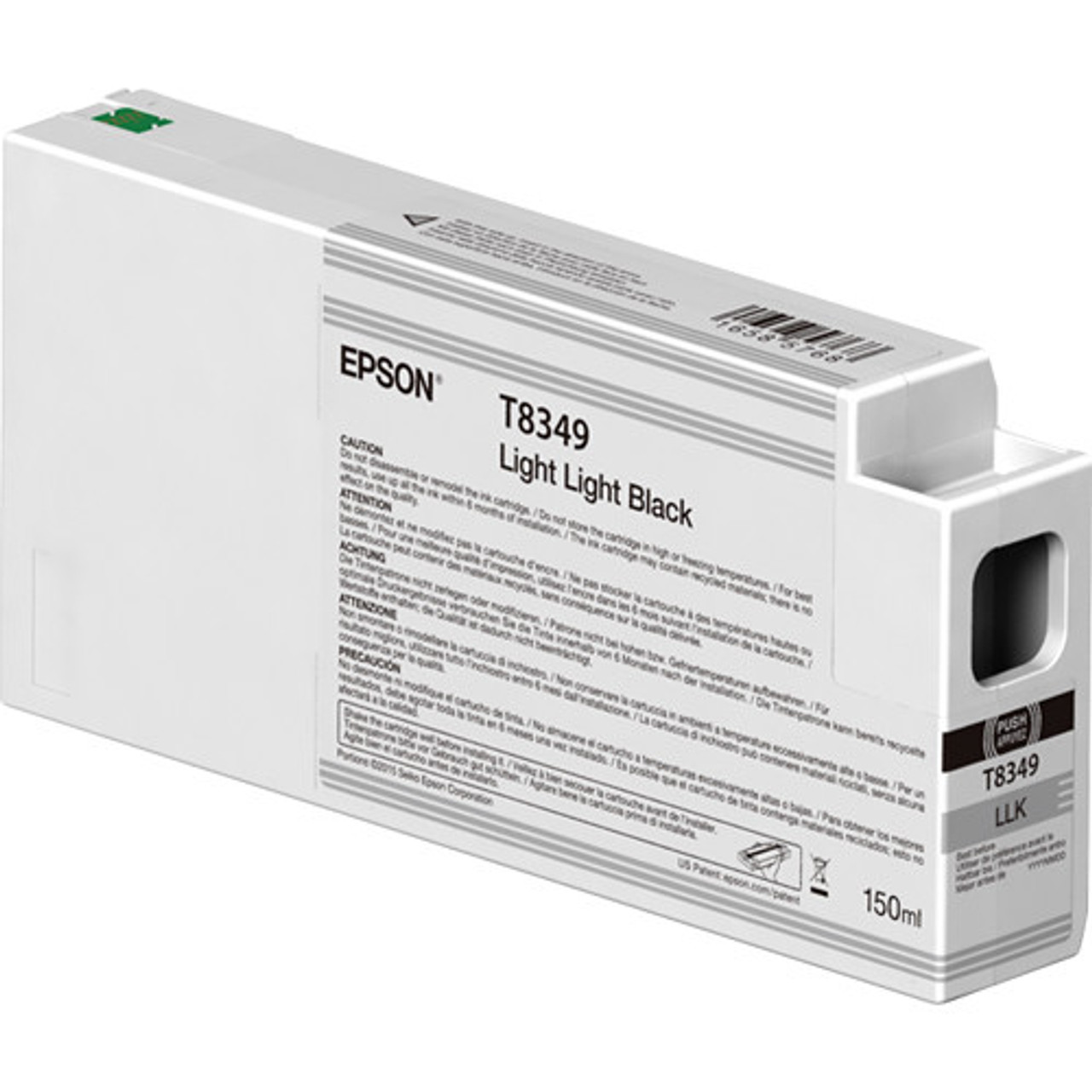 Epson T834900 Light Light Black Ink Cartridge, 150 mL