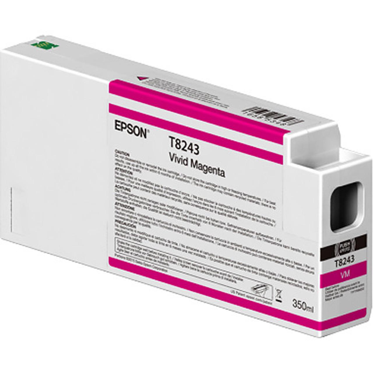 Epson T824300 Vivid Magenta Ink Cartridge, 350 mL