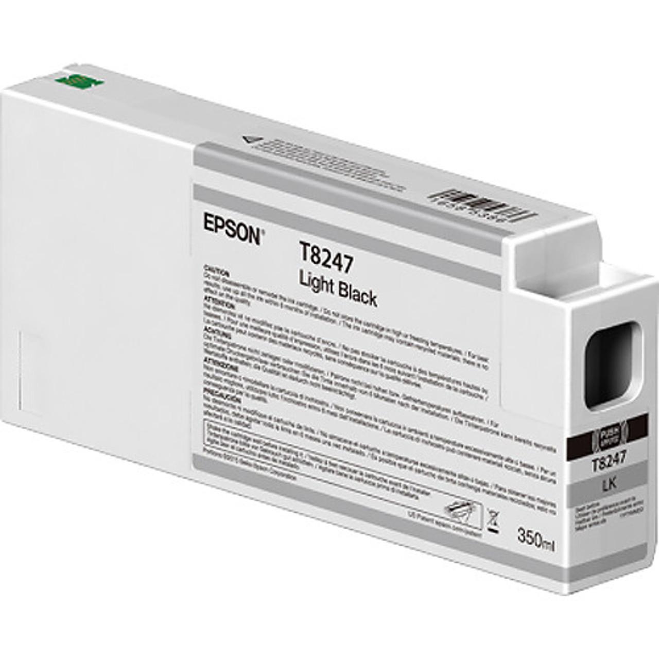 Epson T824700 Light Black Ink Cartridge, 350 mL