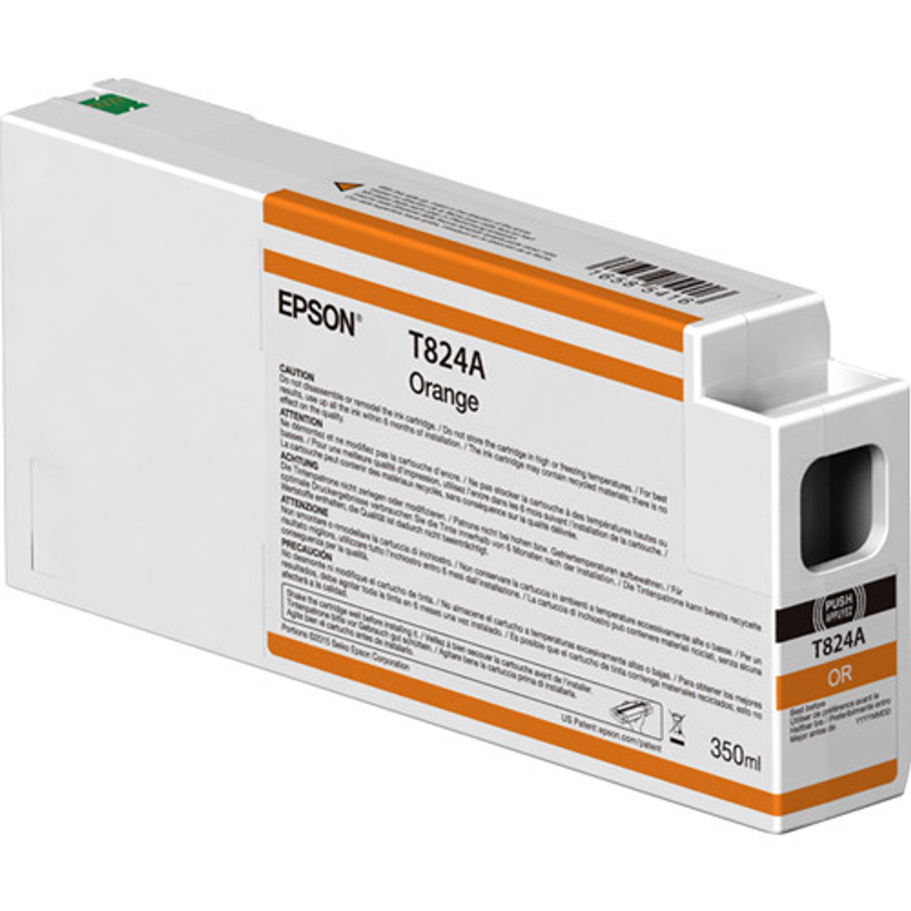 Epson T824A00 Orange Ink Cartridge, 350 mL