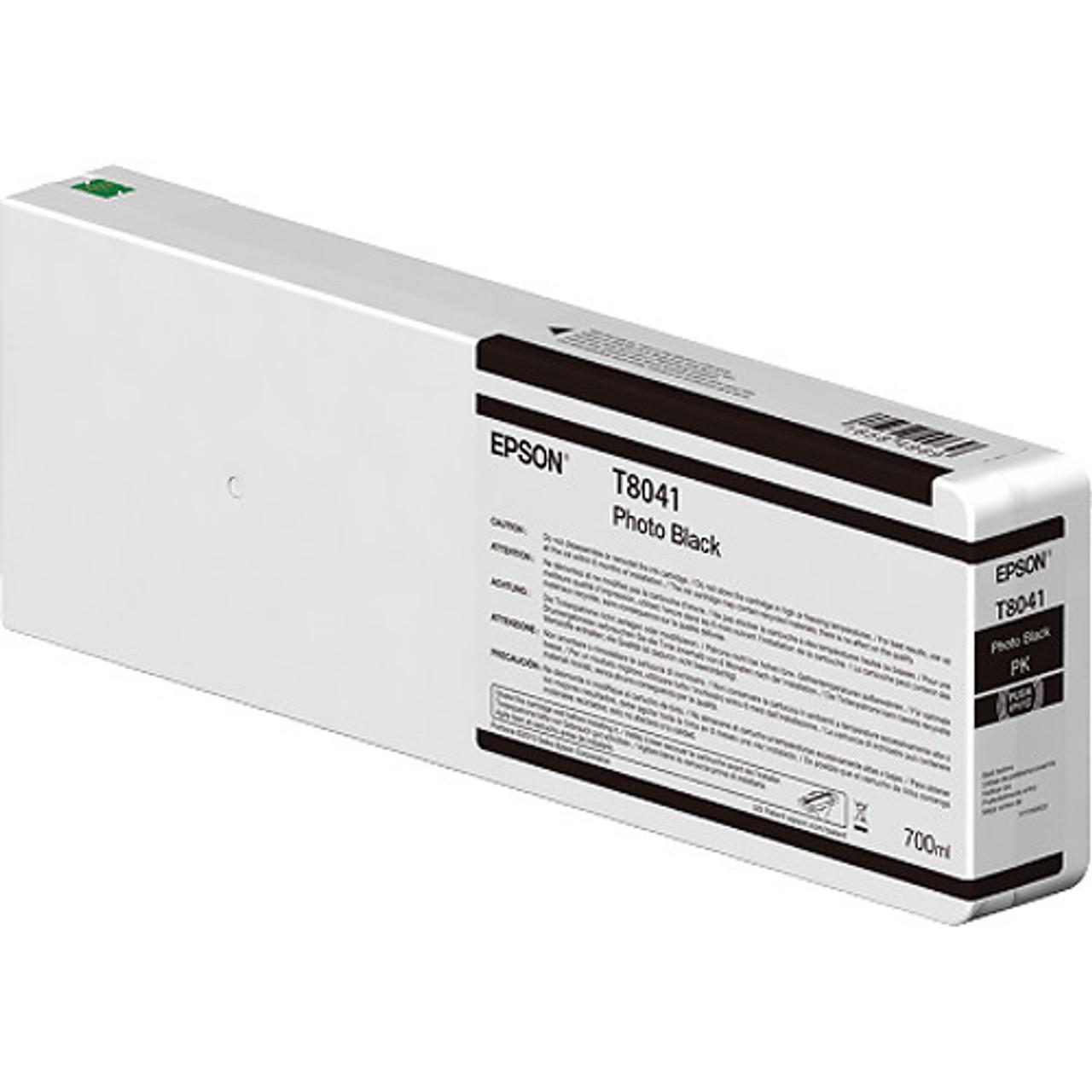 Epson T804100 Photo Black Ink Cartridge, 700 mL