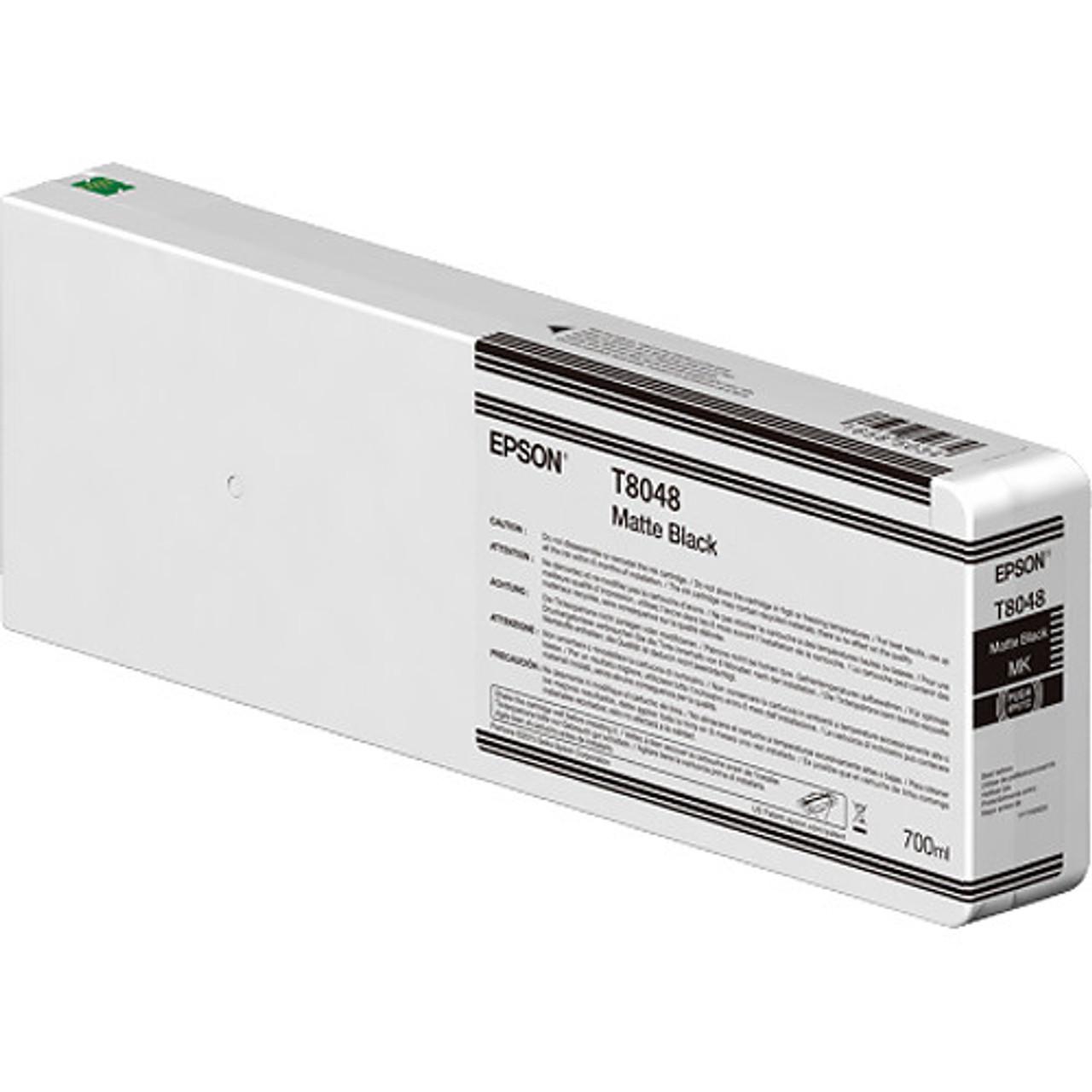 Epson T804800 Matte Black Ink Cartridge, 700 mL