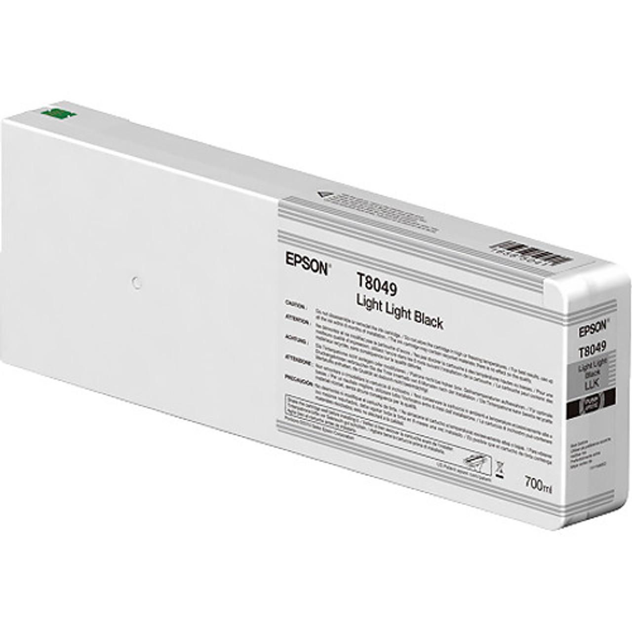 Epson T804900 UltraChrome HD Light Light Black Ink Cartridge (700ml)