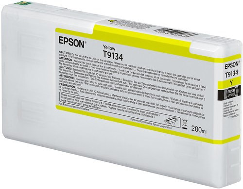 Epson Ultrachrome HD Yellow Ink Cartridge 200ml for SureColor P5000 Printers - T913400