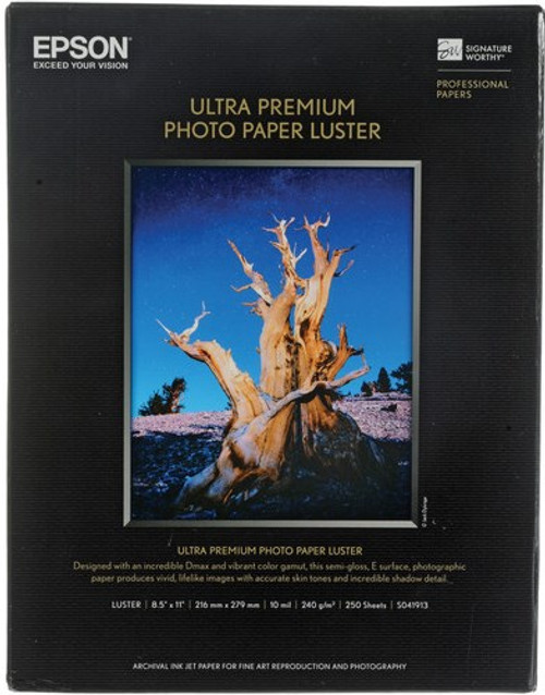 "Epson Ultra Premium Photo Paper Luster 8.5""x11"" 250 Sheets"