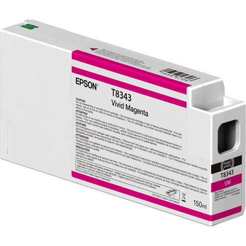 Epson T834300 Vivid Magenta Ink Cartridge, 150 mL