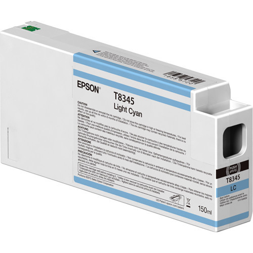 Epson T834500 Light Cyan Ink Cartridge, 150 mL